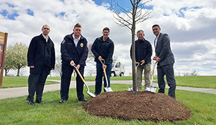 Tree planting ceremony at SCC honors crime victims